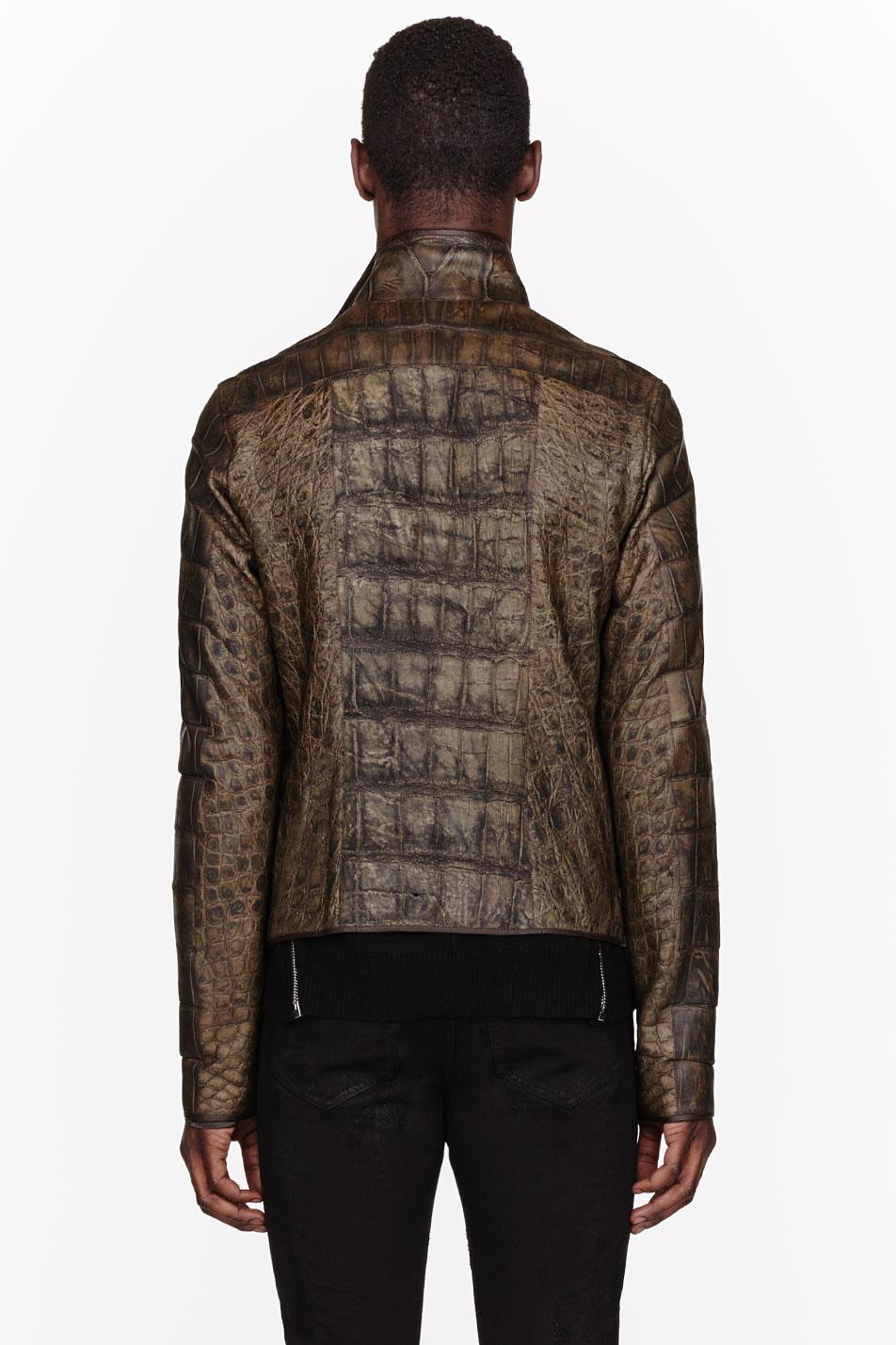 Rick Owens $50,000 leather jacket alligator menswear lookbook 4