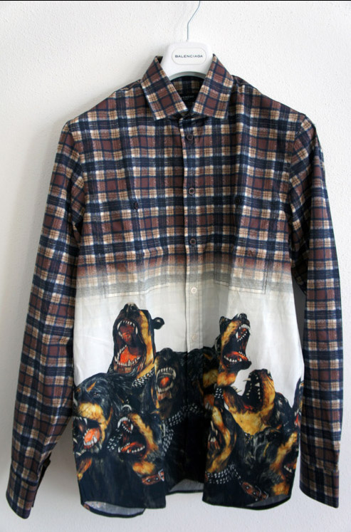 Rottweiler Plaid Shirt Balenciaga menswear streetwear