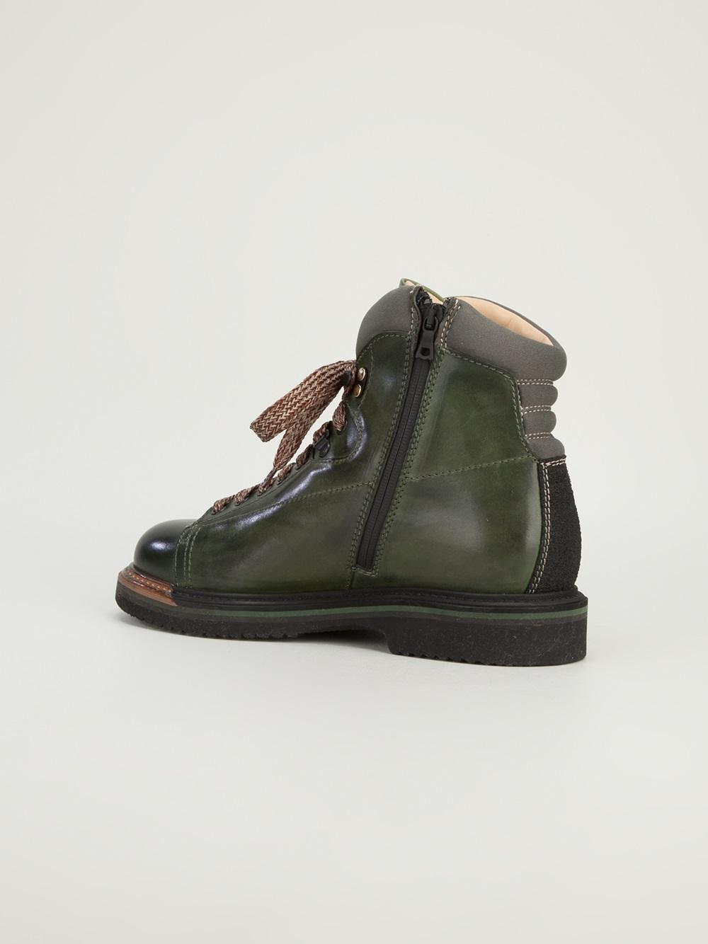 Santoni Monkey Boot hiking men's boots zipper 1