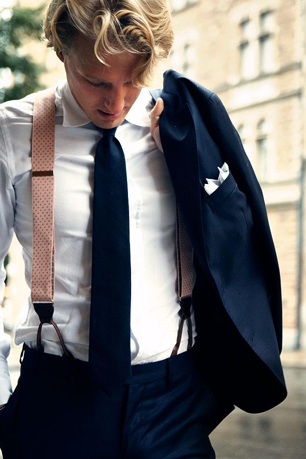 Very Nice midnight suit & tie dotted suspenders loobook