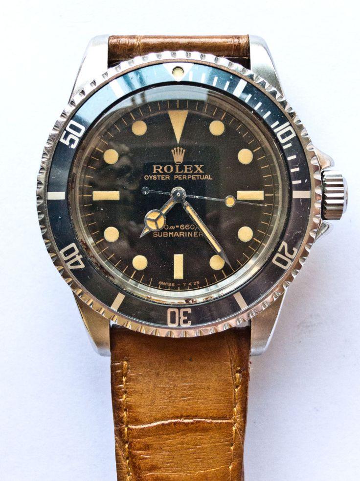Vintage Submariner Brown Strap rolex watch