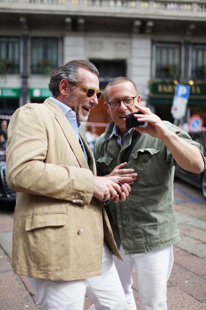 Alessandro Squarzi & Scott Schuman milano streetstyle