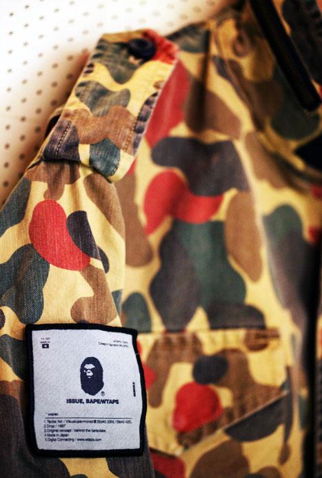 BAPE Military jacket menswear