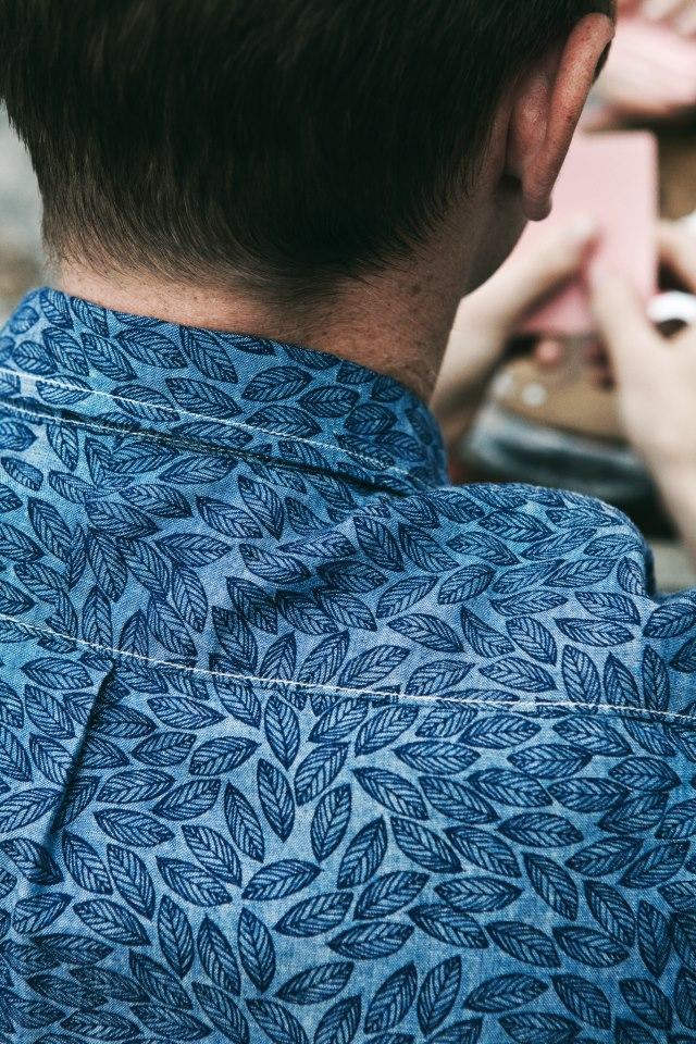 Blue Leaf Shirt Lee 101 everyman narrow loom chambray menswear