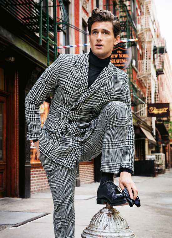 DB Prince of Wales suit men's fashion lookbook