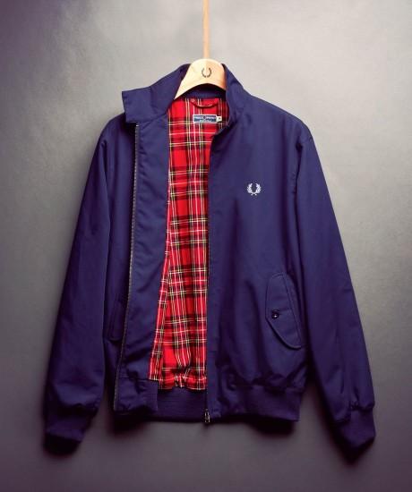 Fred Perry Harrington jacket tartan men's fashion