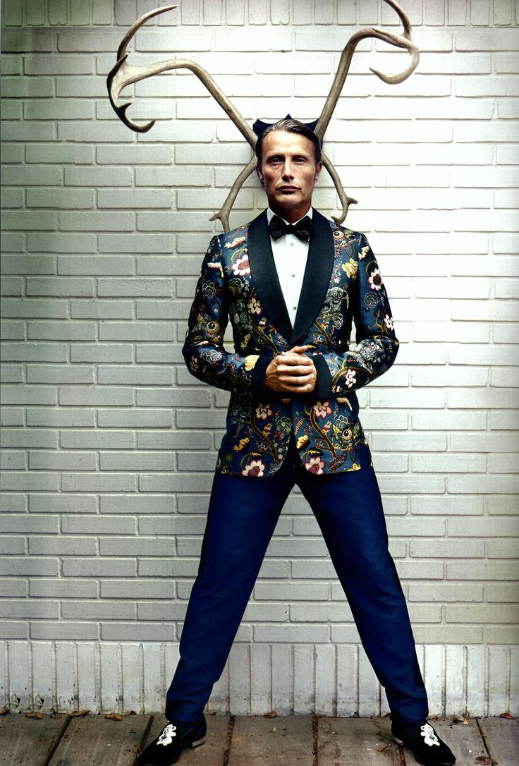 Mads Mikkelsen in Officiel Hommes Magazine hannibal