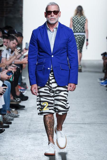Nick Wooster at Mark McNairy runway fashion