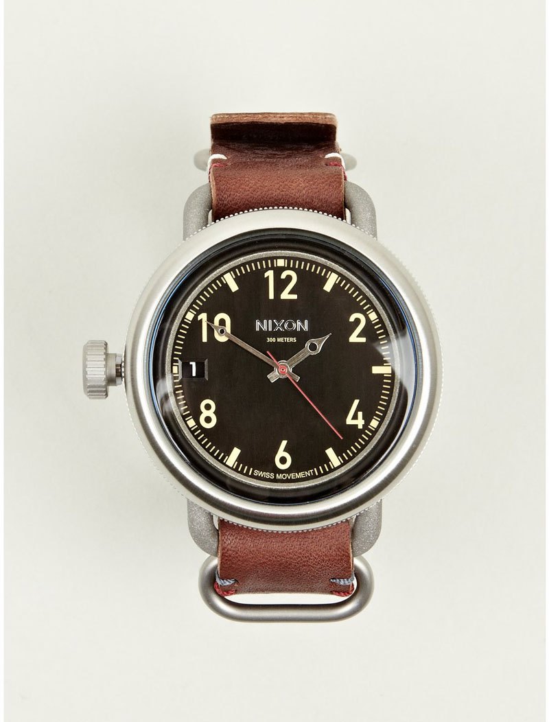 Nixon Brown October Leather watch men's fashion
