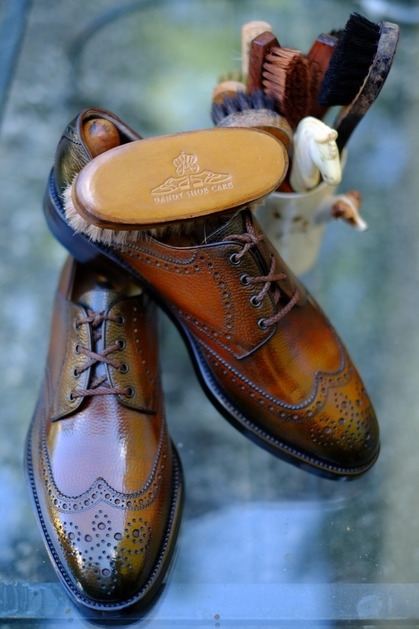Patina by Dandy Shoe Care wingtips