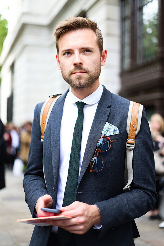 Skinny Knit Tie Street STyle men's fashion