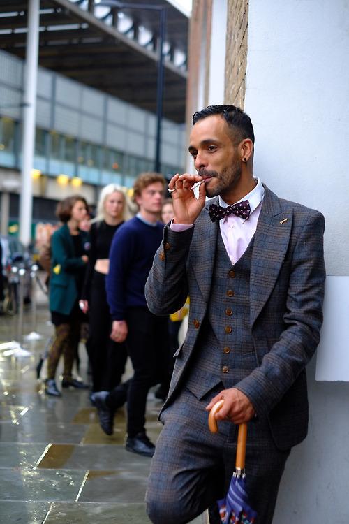 Vivienne Westwood London Fashion Week plaid suit