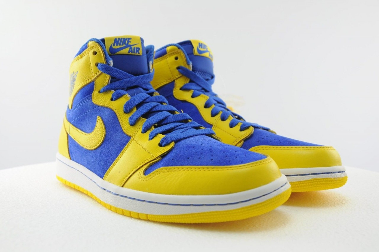 air jordan 1 yellow and blue