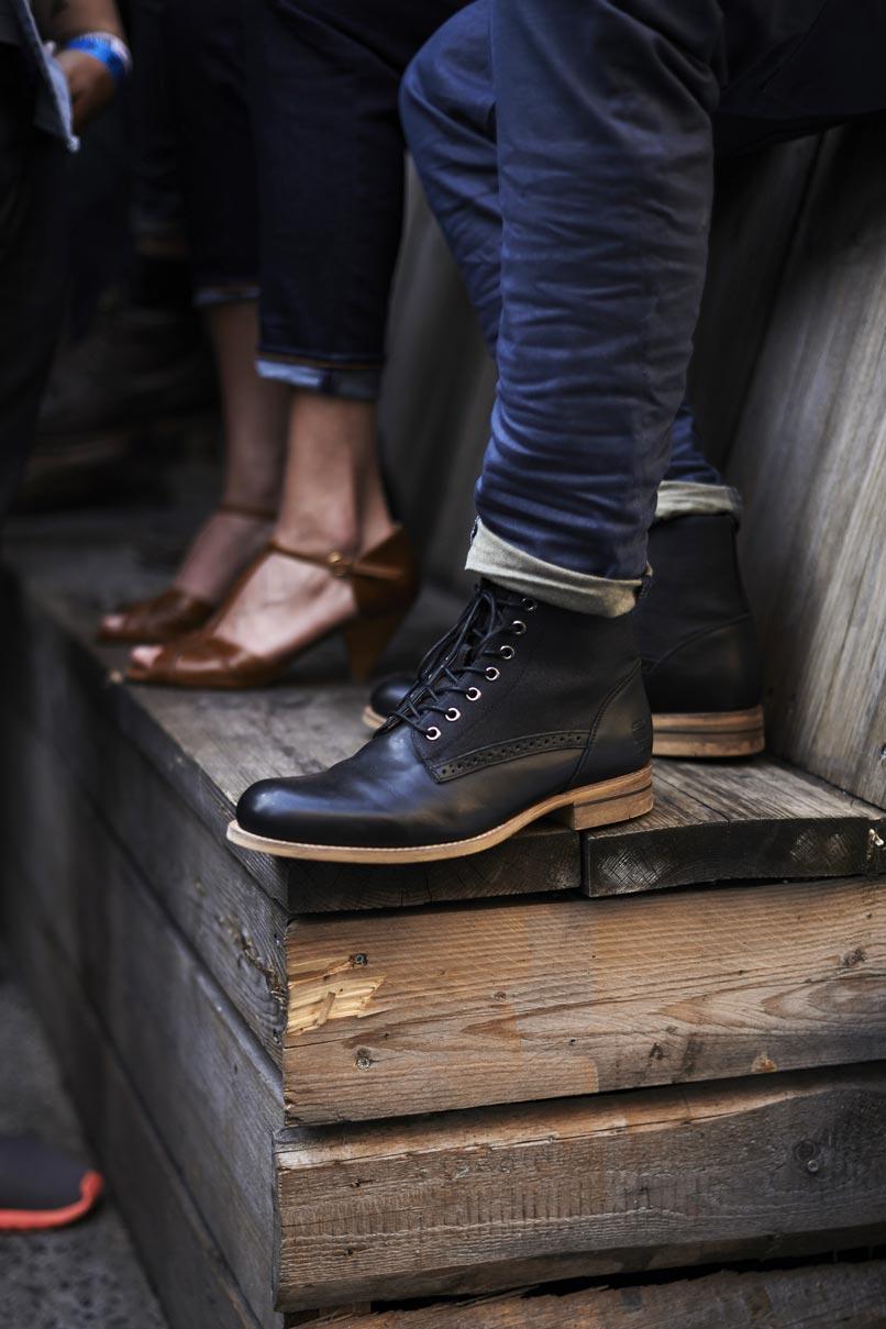 Black G-Star Boots men's fashion