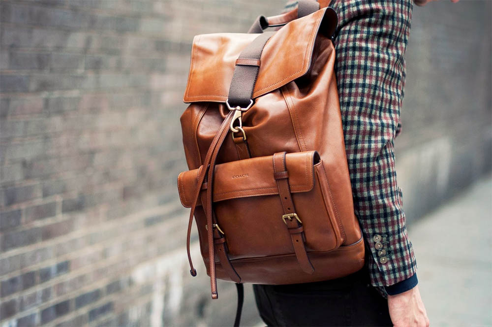 Brown Coach Backpack