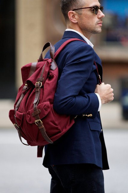 Canvas Backpack by ASOS Suit Street Fashion