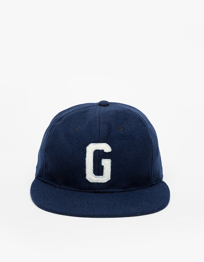 Gangster Handcrafted Navy Flannel Snapback Cap
