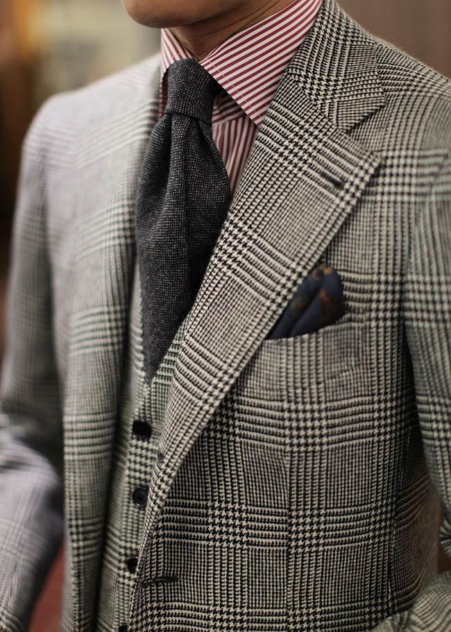 Glen Plaid 3P Suit formal menswear