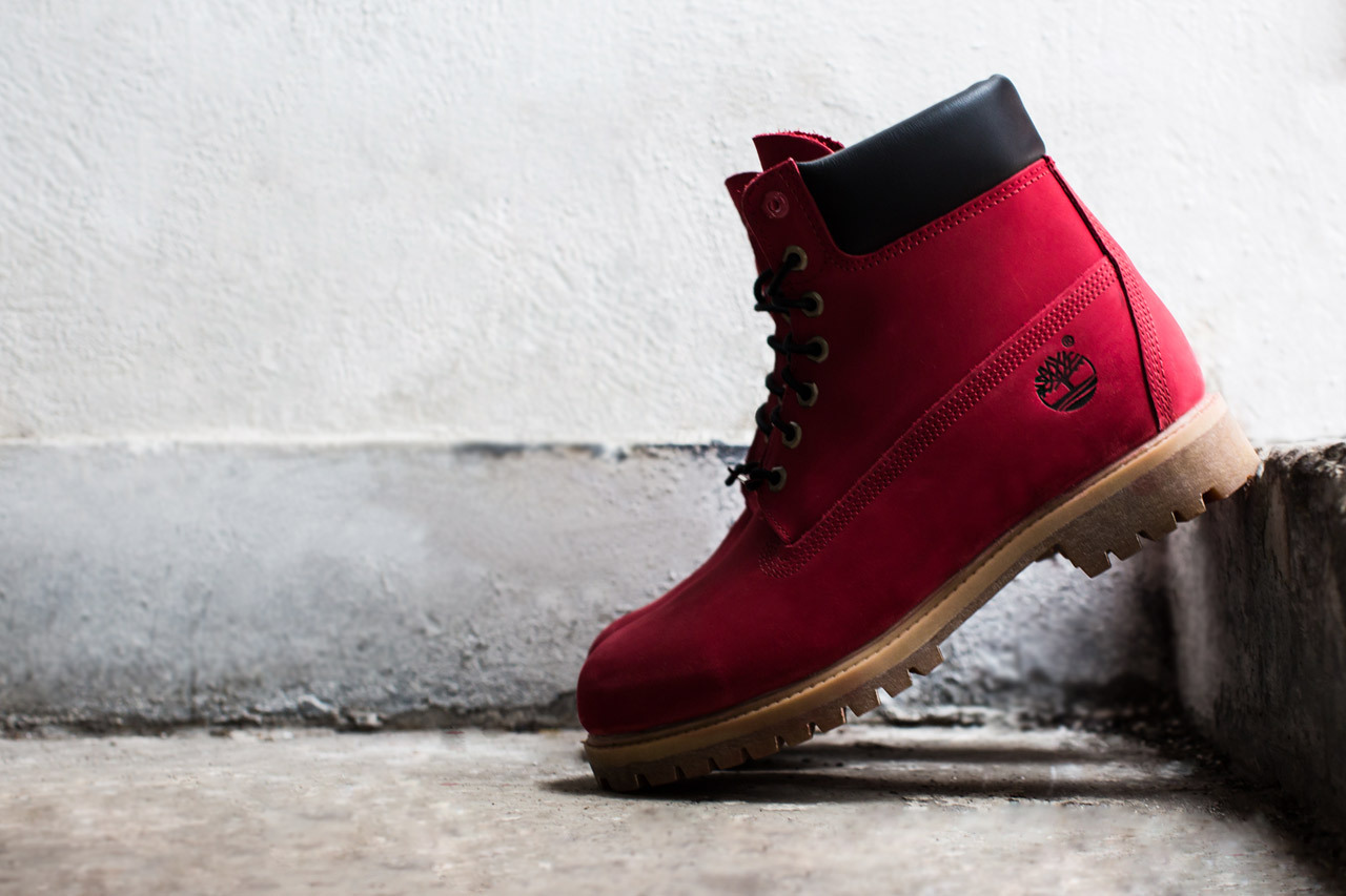 "Join the Movement Villa x Timberland Limited Edition Ruby Red 6"" Boot"