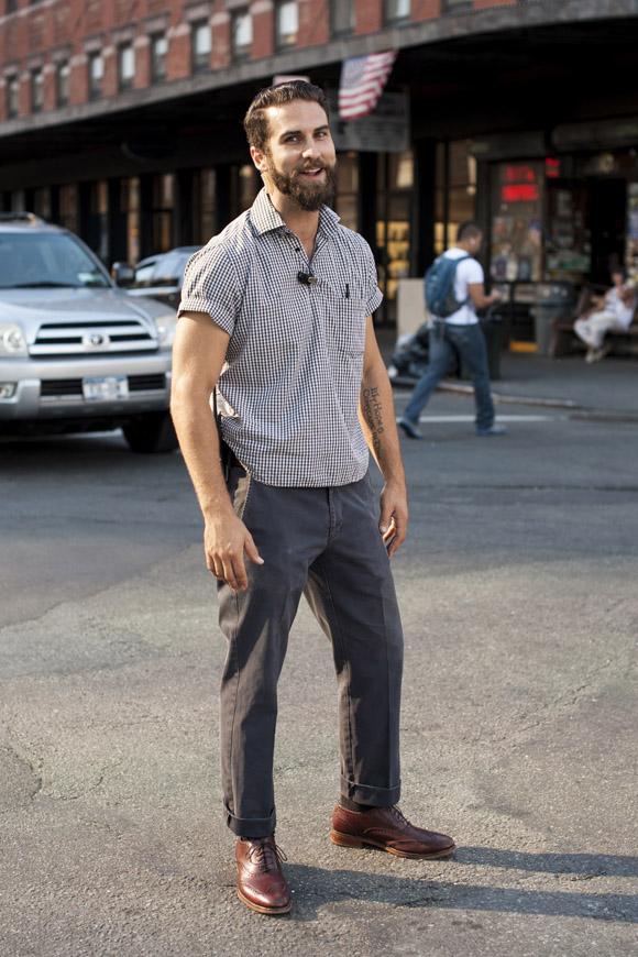 Micro Checks x Wingtips rumble streetstyle men's fashion