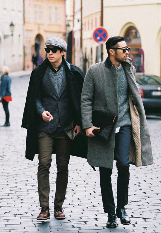 Smoking in Smoking Cobble Stone Street Fashion