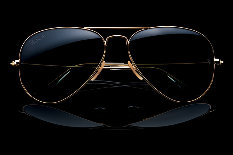Solid Gold Aviator ray ban men's fashion