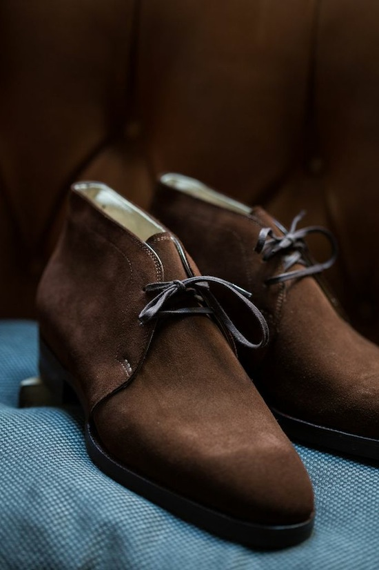 St. Crispin's Chukka brown suede men's shoes