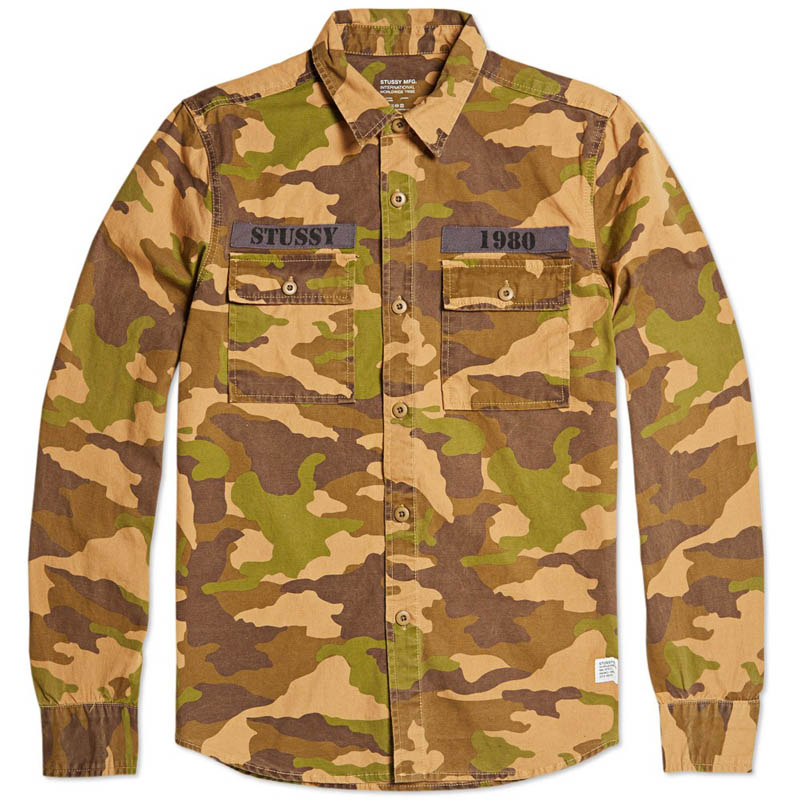 Stussy Holiday Camo Shirt Khaki #menswear