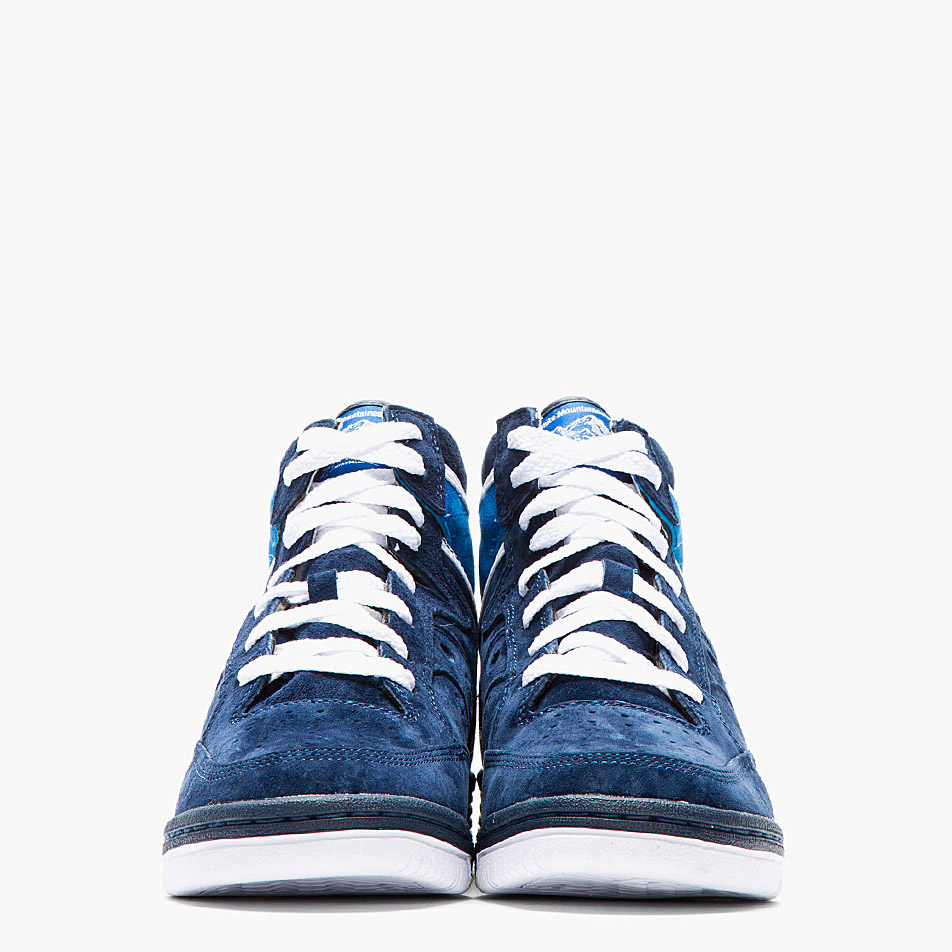 White Mountaineering x Saucony navy suede hangtime sneakers 2