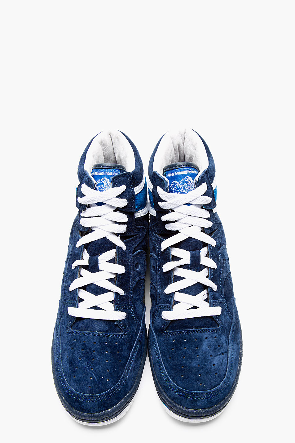 White Mountaineering x Saucony navy suede hangtime sneakers 3