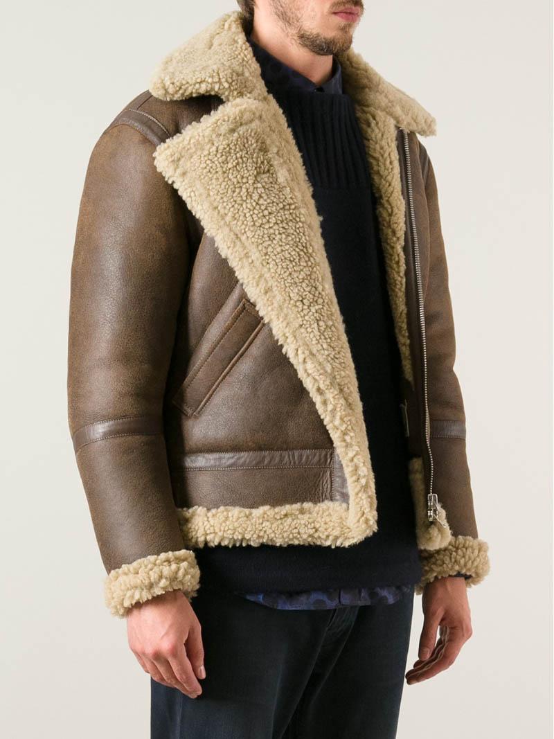 ACNE Ian Shearling Jacket Bane