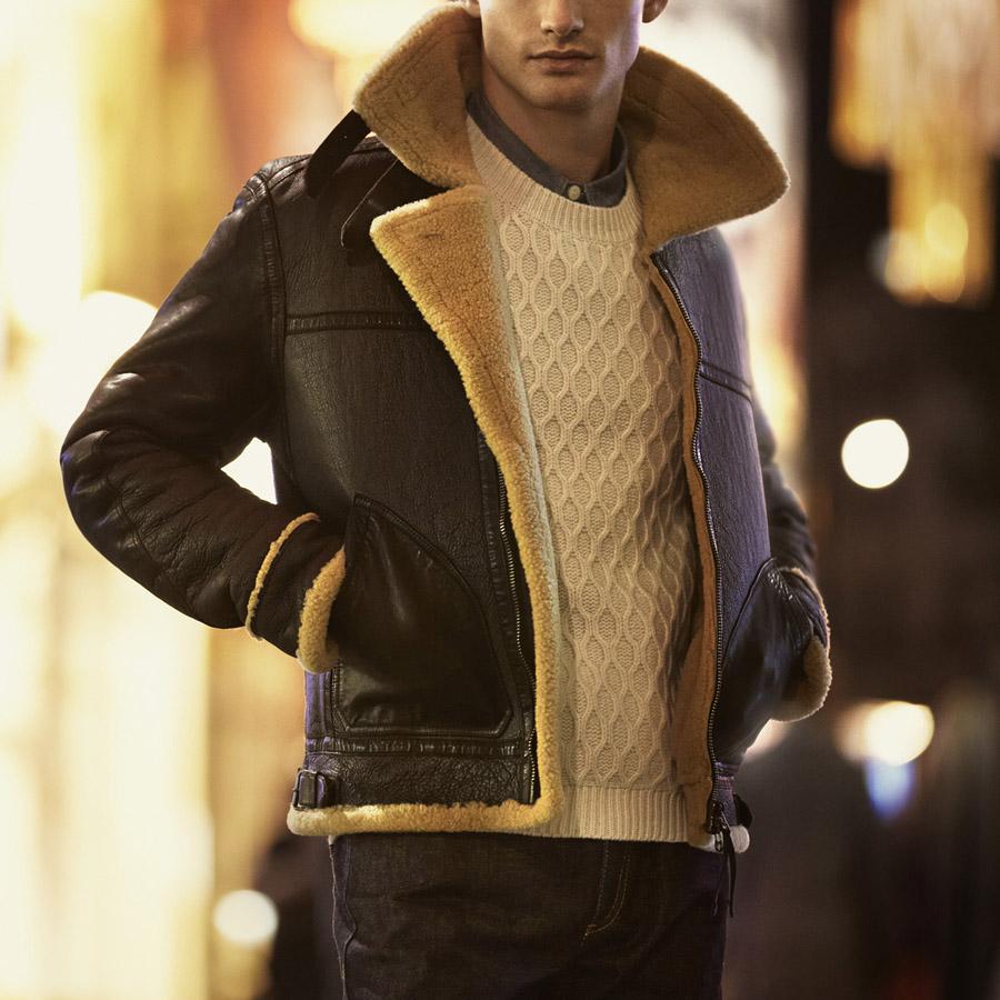 Belstaff Shearling Leather Jacket Soletopia