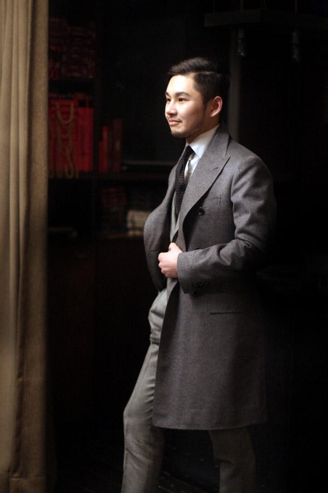 Cashmere Coat Japanese gentleman #streetwear