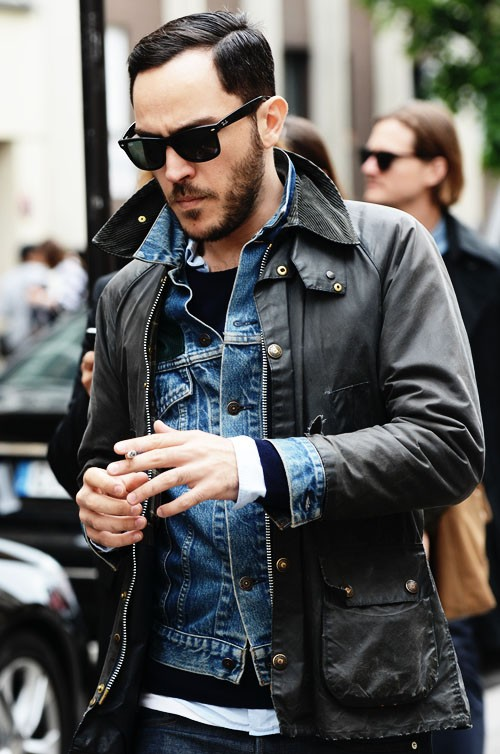 Corduroy Layers, jean jacket wayfayer 10 day scruff
