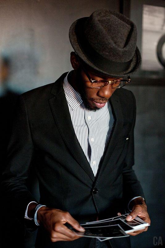 Gentleman Hat Stripe Shirt Suit Menswear