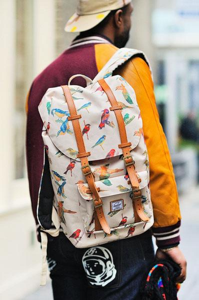 Herschel Supply Bird Print Range backpack #streetstyle