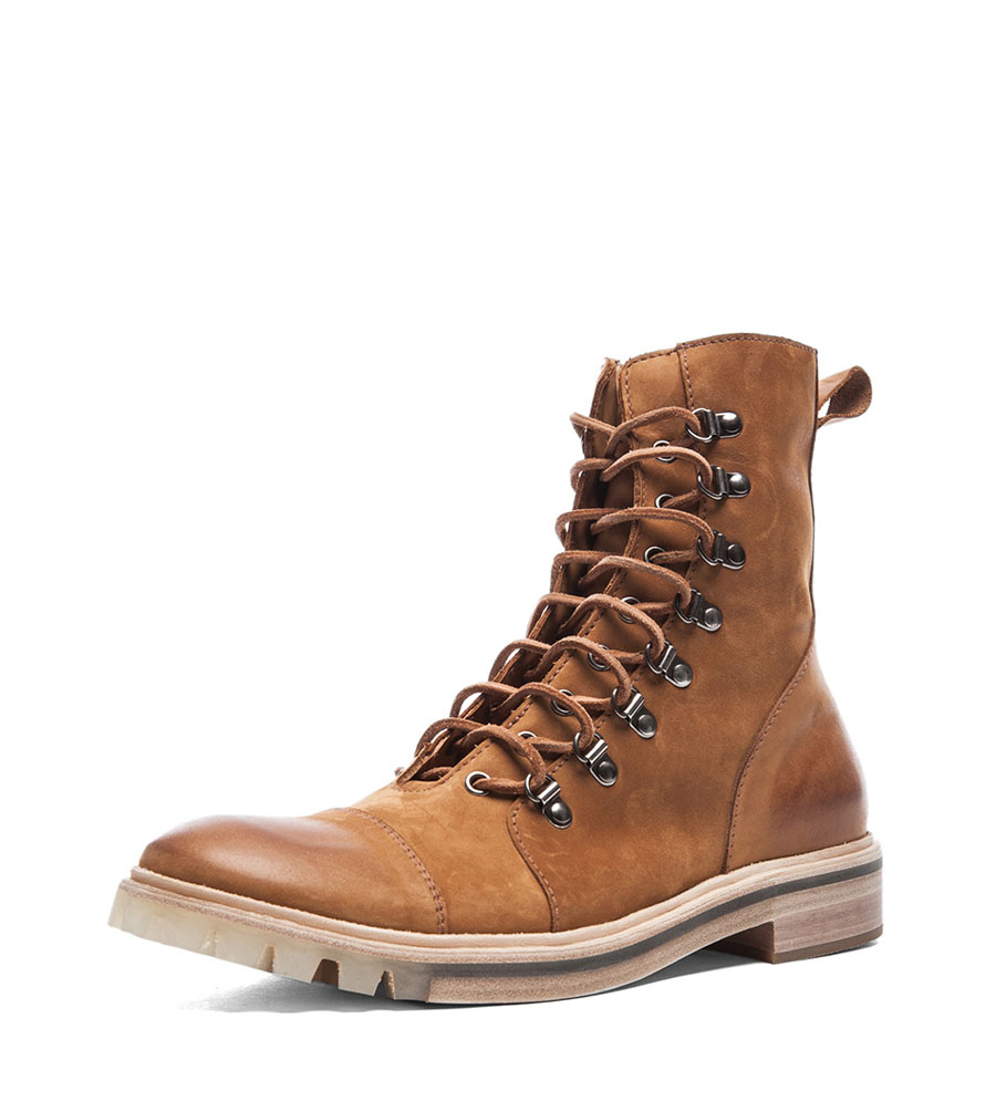 Honey Suede Lace-Up Boot Maison Martin 1