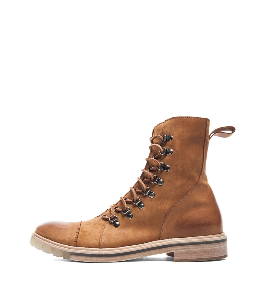 Honey Suede Lace-Up Boot Maison Martin 2