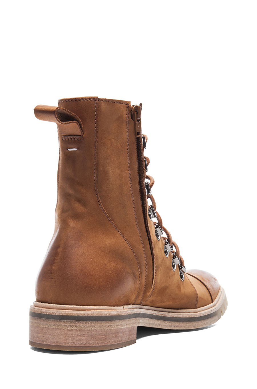 Honey Suede Lace-Up Boot Maison Martin 4