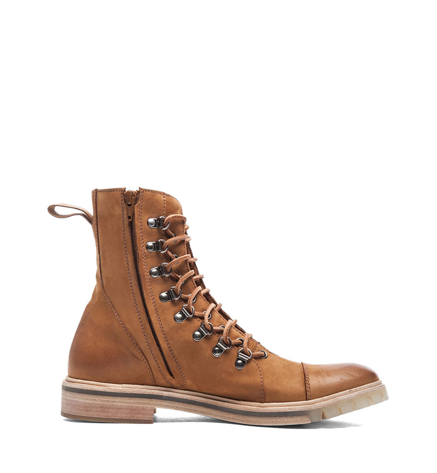 Honey Suede Lace-Up Boot Maison Martin 5