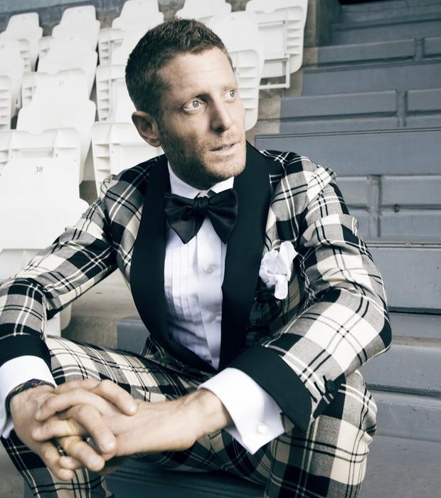 Lapo Elkann Multi-Plaid Suit #menswear
