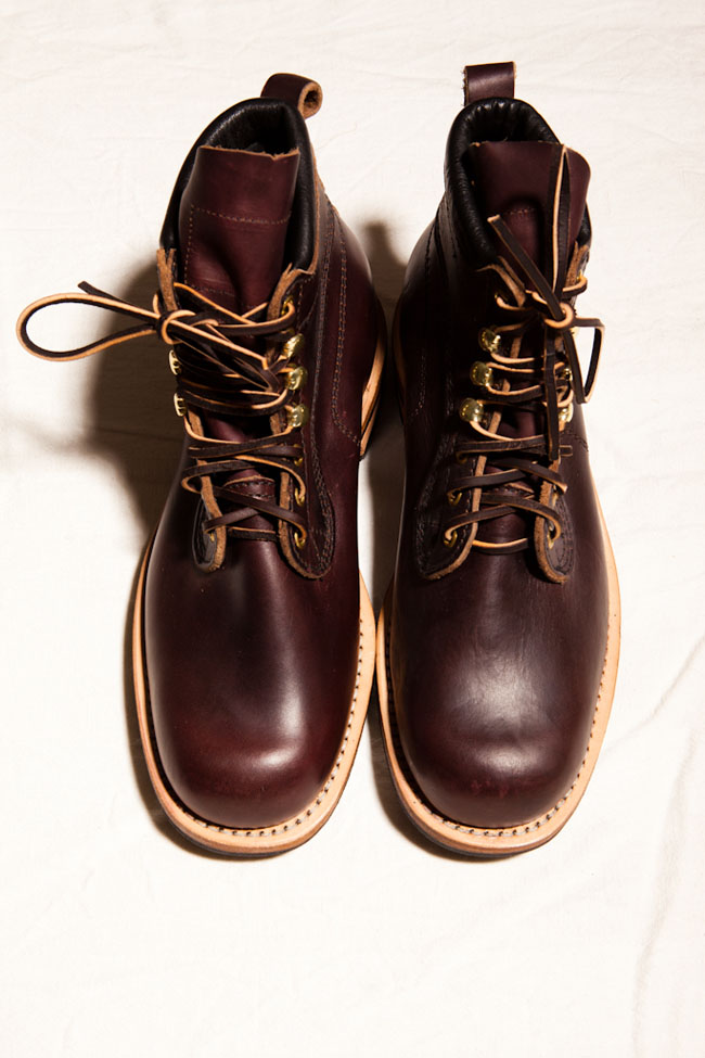 Nigel Cabourn × Viberg Apsley Cherry Red Boot