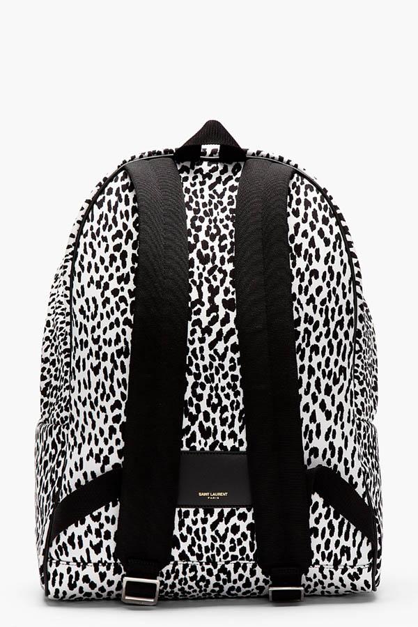 Snow Leopard Backpack Saint Laurent Paris