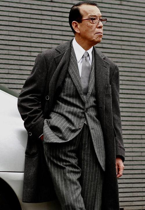 Yuki Akamine Pinstripe Suit & Overcoat