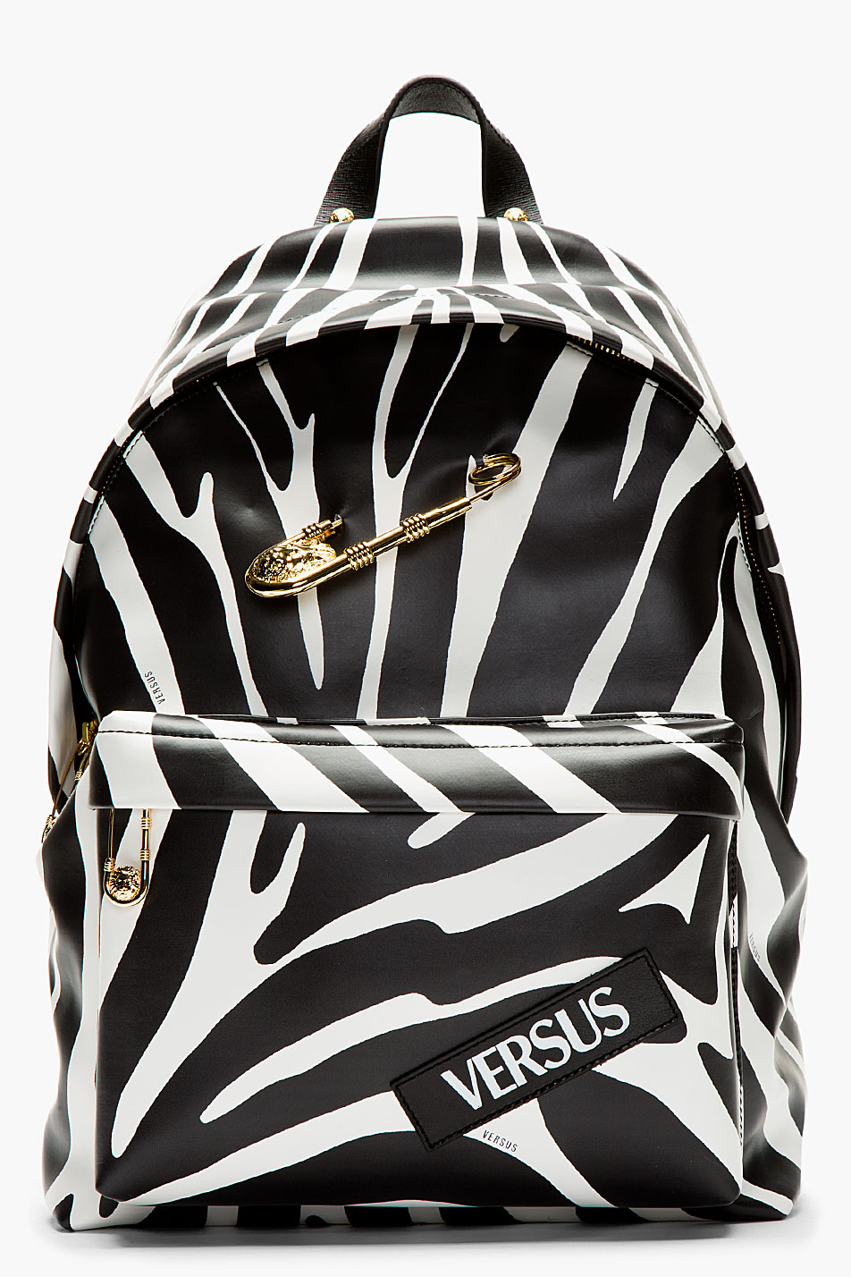 Zebra Print × Safety Pin backpack versus