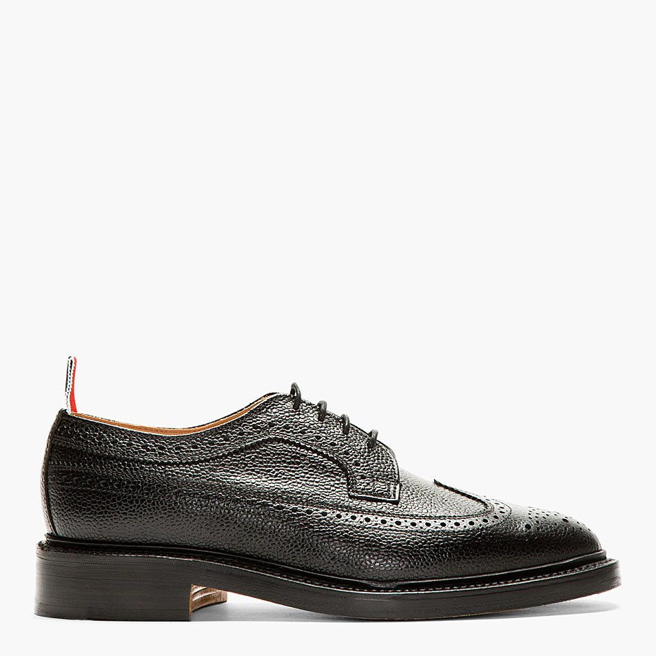 Black Pebbled Longwing brogue Thom Browne soletopia 1