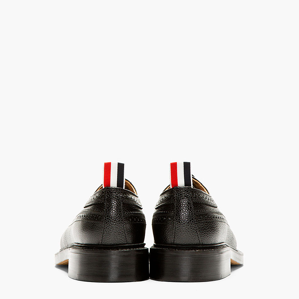 Black Pebbled Longwing brogue Thom Browne soletopia 4