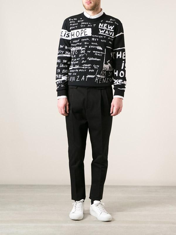 Kenzo Scribbled Print Sweatshirt 1