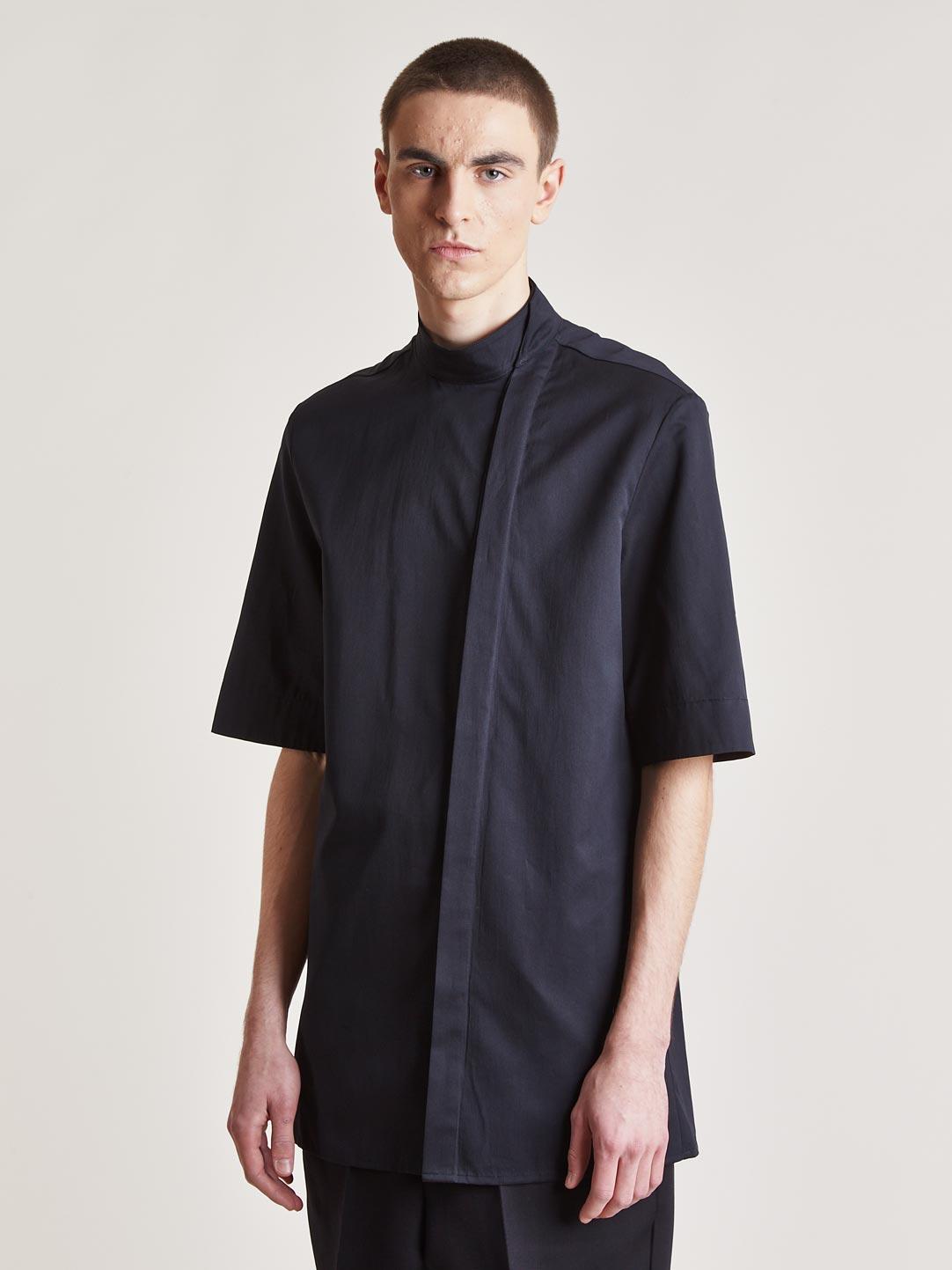 9dd1be06f90fd7 Kimono Dervish Collar Shirt Thamanyah 1