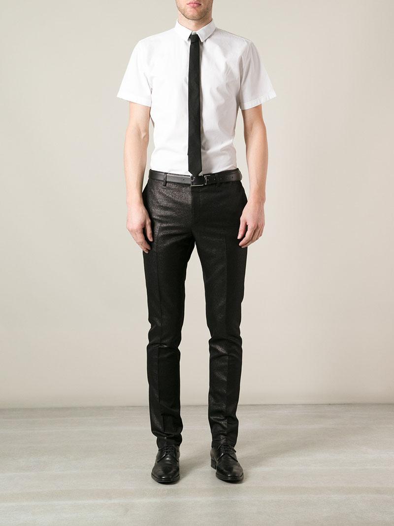 LANVIN Tailored Shine Trouser suit pants
